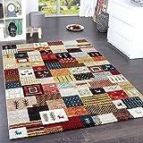 Paco Home Designer Teppiche Modern Loribaft Nomaden Teppich Terra Rot Grün Multicolour, Grösse:160x230 cm
