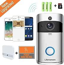 Wireless Doorbell WiFi Smart Video Doorbell 720P HD Smart Security Camera Doorbell With Realtime Push Alerts Watchdog Surveillance System Night Vision 3pcs Batteries 16G SD Card
