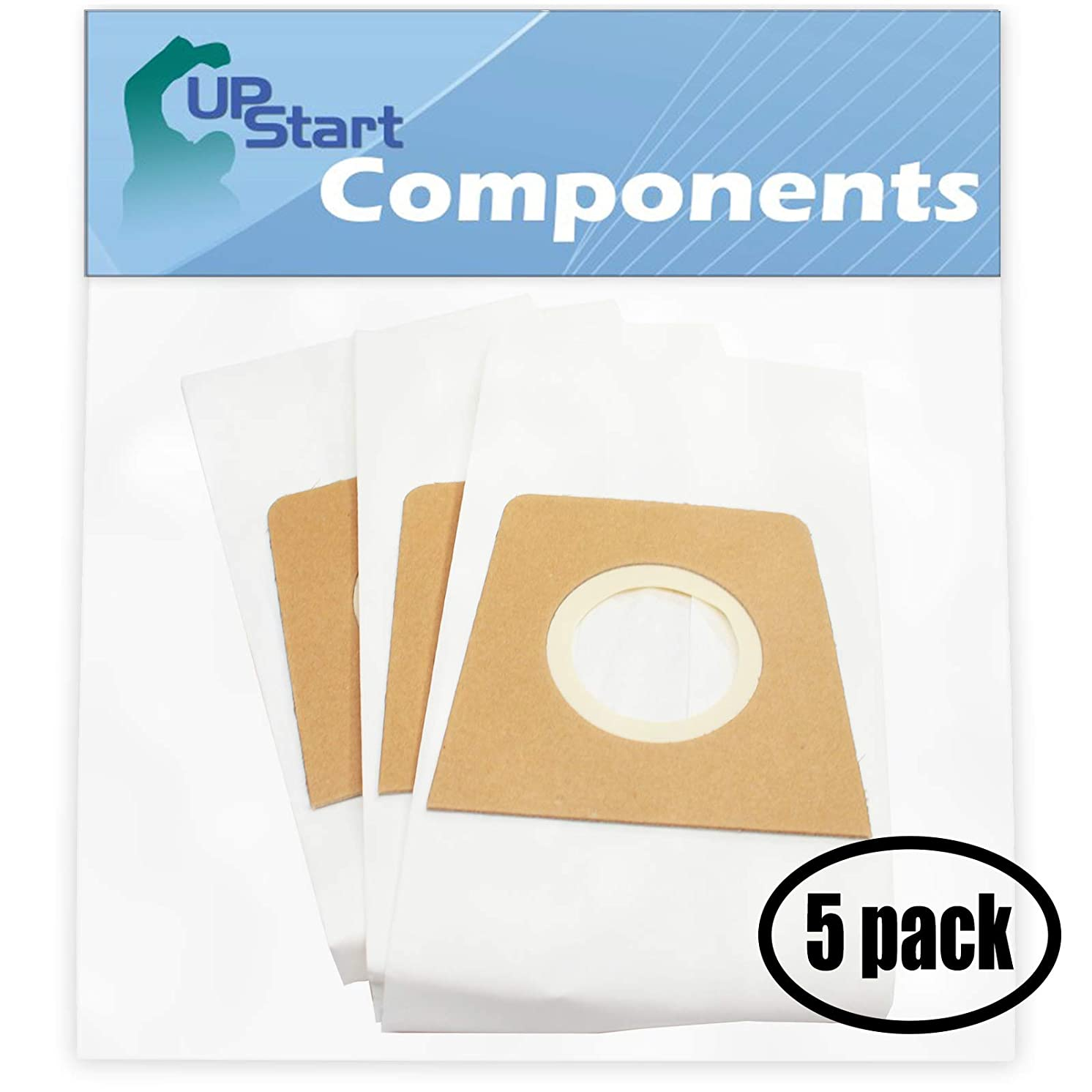 UpStart Battery 15 Replacement for Dirt Devil M086010 Vacuum Bags - Compatible with Dirt Devil 3920047001, 3920048001, Type U Vacuum Bags (5 Pack - 3 Vacuum Bags per Pack)