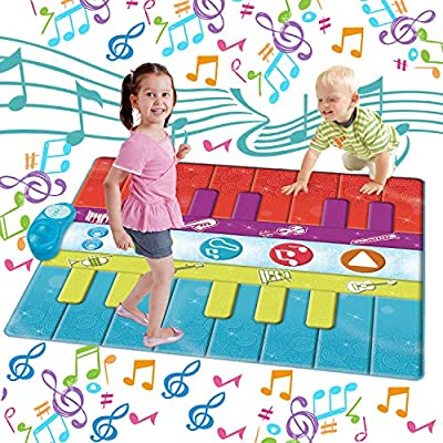SUNLIN Floor Piano Mat for Kids, Musical Dance Mat for Toddlers, Boys Girls Learning Toys Gift by