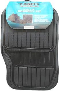 Carfit 4561001 Perfect Fit Rubber Car Floor Mat 4 Piece Set, Black, Set of 2