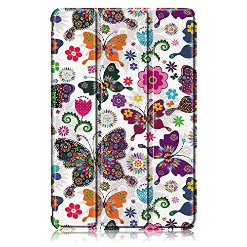 GHC Pad Fundas & Covers para Samsung Tab S7 11 '' 2020, Funda magnética de Cuero PU Flip Stain Tablet Folio Funda para Samsung Galaxy Tab S7 S 7 T870 T875 (Color : Butterfly)