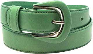 """Made in USA - Luxury Retail Store Quality Genuine Leather Fashion Belt for Women - 30mm 1 1/8"""" wide - Real Leather Creations"""