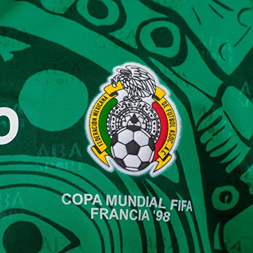 ABA Sport Mexico Authentic 1998 World Cup Soccer Jersey