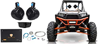 "2 Rockville 8"" Rollbar Speakers+4-ch Amp+Bluetooth Contol ATV/UTV/RZR/Polaris"