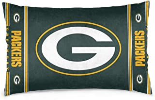 Gdcover Custom Colorful Green Bay Packers Pillow Covers Standard Size Throw Pillow Cases Decorative Cotton Pillowcase Protecter with Zipper - 20x30 Inches