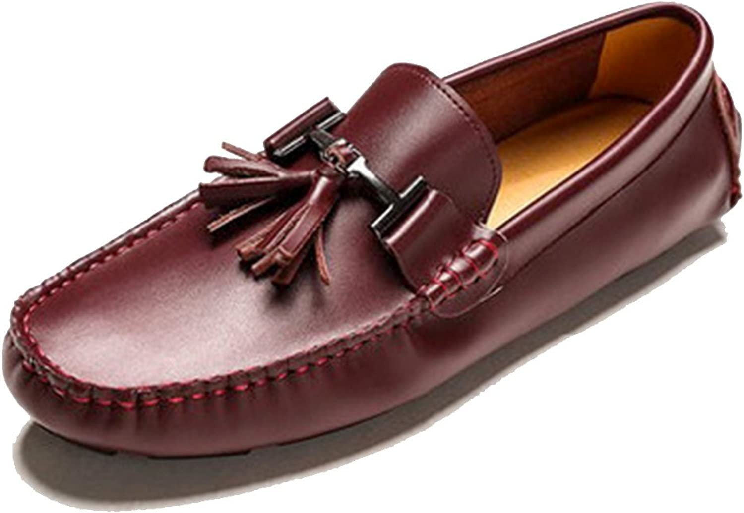 Cover Plus 8 color UK Size 5-12 New Genuine Leather Mens Slip On Casual Tassel Driving Loafers shoes