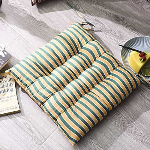 Set 4 Pezzi Cuscino Sedia,Cuscini Coprisedia Trapuntati Imbottito,Morbido Cuscino per Sedia da Giardino Cucina Ufficio,Cuscino da Pavimento Quadrato in Reticolo Tatami Interno e Esterno 8 40x40CM
