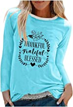 FONMA Christmas Women Color Patchwork Print Tops Pullover Long Sleeve Blouse T-Shirts