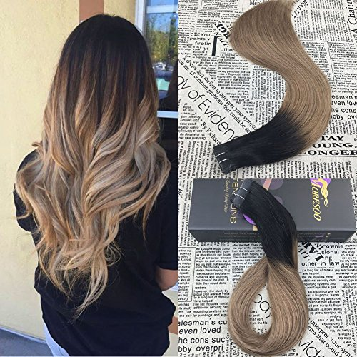 Moresoo Human Hair Extensions in Blonde and Bleach Blonde
