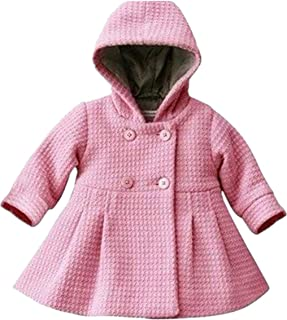 Baby Girls Hooded Long Sleeve A Line Trench Coat Jacket Outwear Top