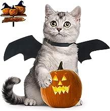 Yu-Xiang Cat Halloween Bat Wings Pet Costume Pet Apparel for Cat Small Dog, Black s Black