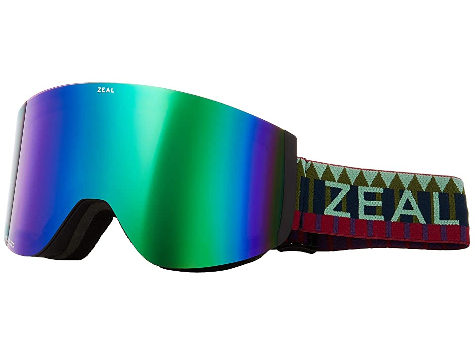 Zeal Optics Hatchet (Royal Peacock w/ Polarized Jade Mirror + Sky Blue Mirror) Snow Goggles