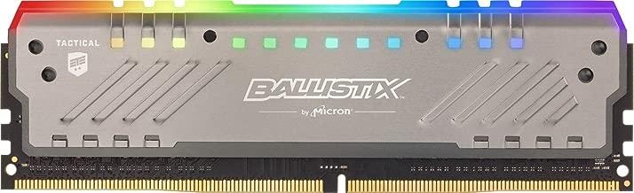 Crucial Ballistix Tactical Tracer RGB 3000 MHz DDR4 DRAM Desktop Gaming Memory Single 8GB CL16 BLT8G4D30BET4K