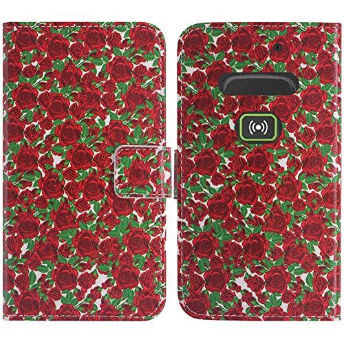 TienJueShi Rose Blume Flip Stand Brief Leder Tasche Schütz Hülle Handy Hülle Für Doro Secure 580IUP Abdeckung Fall Wallet Cover Etüi
