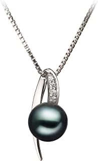 Destina 7-8mm AA Quality Japanese Akoya 925 Sterling Silver Cultured Pearl Pendant For Women