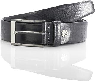 LINDENMANN men's leather belt/men's belt, leather belt, black, Farbe/Color:black, Size US/EU:Waist Size 33.5 M EU 85 cm
