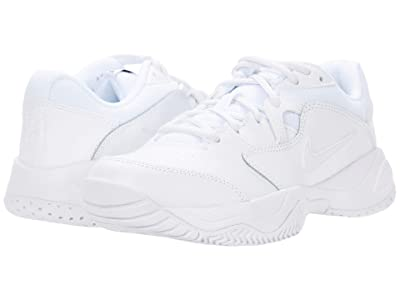 Nike Kids Jr Court Lite 2 Tennis (Little Kid/Big Kid) (White/White) Boy