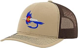 Custom Richardson Trucker Hat Colorado Flag Fishing Fly Embroidery Snaps