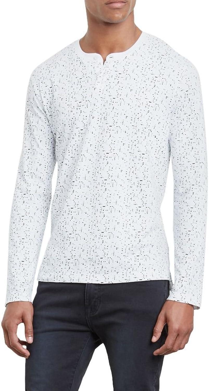 Kenneth Cole Womens Splatter Henley Shirt
