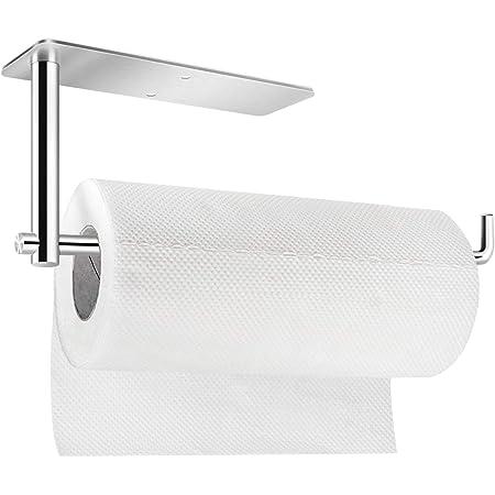 Kitchen Self Adhesive Hand Towel Holder Under Cabinet Roll Paper Storage Rack