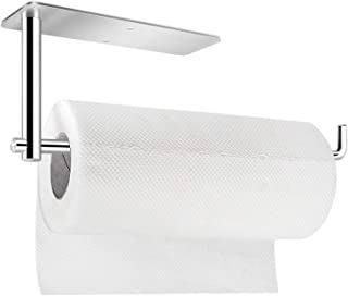 Paper Towel Holder Under Cabinet Mount- Self Adhesive Paper Towel Roll Rack for Kitchen Bathroom Towel, 12 Inch Rolls Wall...