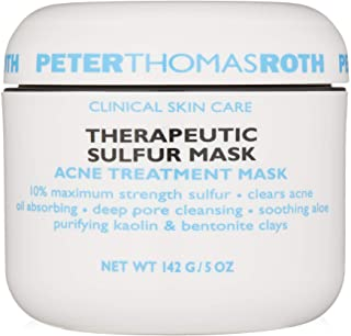 Peter Thomas Roth Therapeutic Sulfur Acne Treatment Mask, Maximum-Strength Sulfur Mask for Acne, Clears Up and Helps Preve...