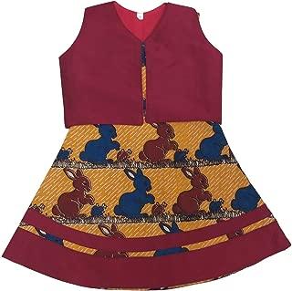 Pattu Pavadai Baby Girls/Kids Kalamkari Raw Silk Frock with Coat (Yellow and Maroon)