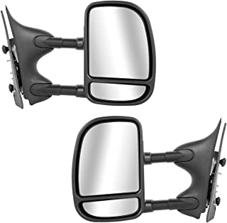 Ford Super Duty Towing Mirrors Pair Rear View Mirrors for 1999-2007 Ford F250 F350 Super Duty with Power Control Heated Manual Telescoping and Folding Feature
