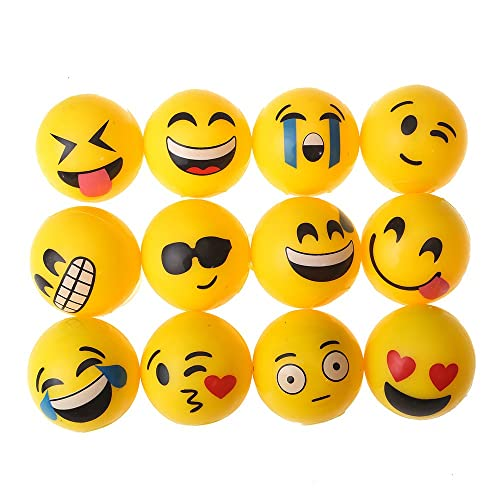 Beyond Dreams 12 Pieces LED Springball With Smiling Faces