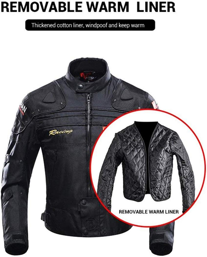 Motorcycle Jacket Motorbike Riding Jacket Windproof Motorcycle Full Body 5 Protective Gear Armor Autumn Winter Moto Clothing for Men Women Ladies