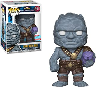 Funko Korg w/ Miek (2018 Fall Con Exclusive): Thor - Ragnarok x POP! Marvel Vinyl Figure & 1 PET Plastic Graphical Protector Bundle [#391 / 30763]