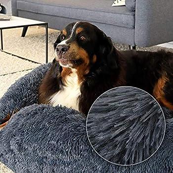Puppy Love Panier Chien, Coussin Chien Anti Stress XXXL Dehoussable,Paniers Et Mobilier pour Chiens, Lit Moelleux Rond pour Chien, Lavable, Confortable#1-110cm