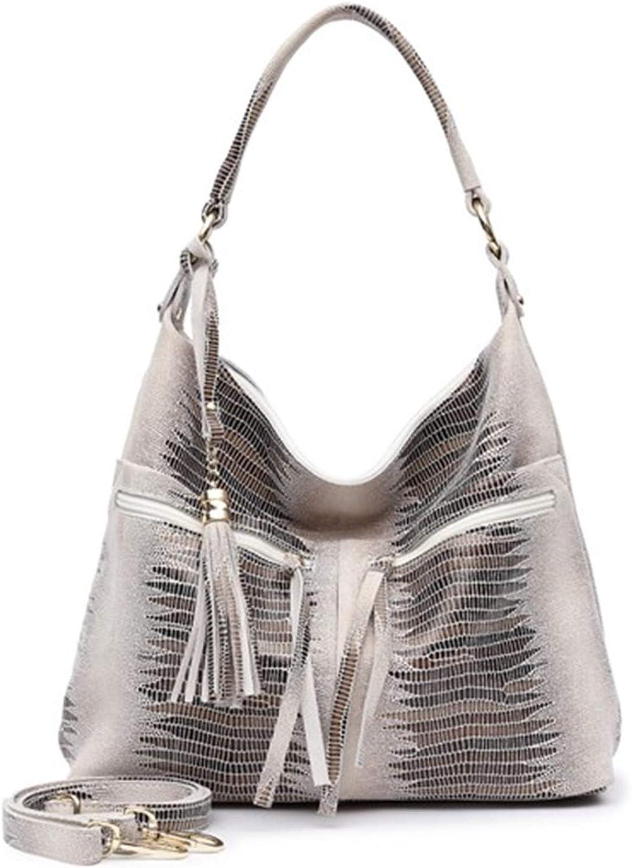 Availcx Multi Reißverschlusstaschen aus echtem Wildleder große Umhängetaschen für weibliche große geräumige glänzend geprägte Tote Handtaschen B01MU8W82H  Qualitätsservice