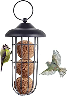 Kcpolre Mangeoire à oiseaux, mangeoire à oiseaux en métal à l'épreuve des écureuils mangeoire à oiseaux fer à suspendre au...