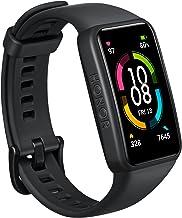 "HONOR Band 6, Model ARG-B39, 1.47"" AMOLED Display, Long Battery Life, 24/7 Heart Rate Monitoring, Sleep Tracking, Internat..."