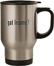 got legume? - Stainless Steel 14oz Road Ready Travel Mug, Silver