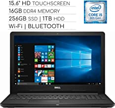 Dell Inspiron 3000 Series 15.6 inch Touchscreen 2019 Laptop Notebook Computer, Intel Core i5-7200U 2.5Ghz, 16GB DDR4 RAM, 256GB SSD + 1TB HDD, Wi-Fi, HDMI, Webcam, Bluetooth, USB 3.0, Windows 10