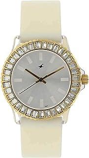 9827PP01 Fastrack Quartz White Dial Analog Watch for Women
