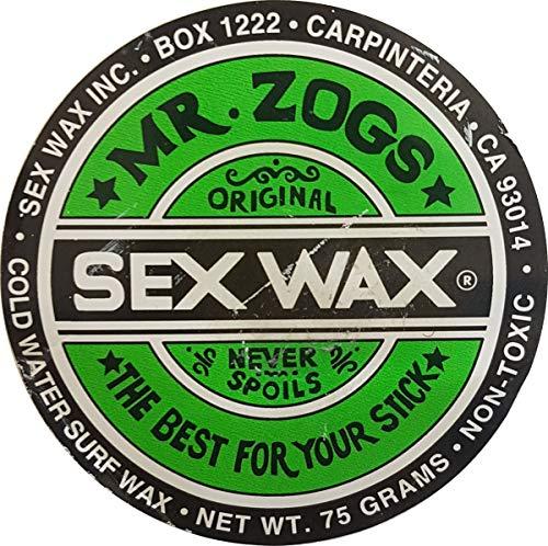 Sex Wax Surfwachs von Mr.Zogs Original 75 Gramm grün für den Temperaturbereich kalt Cold bis 14 Grad Celcius, Mr. Zogs Wachs Green