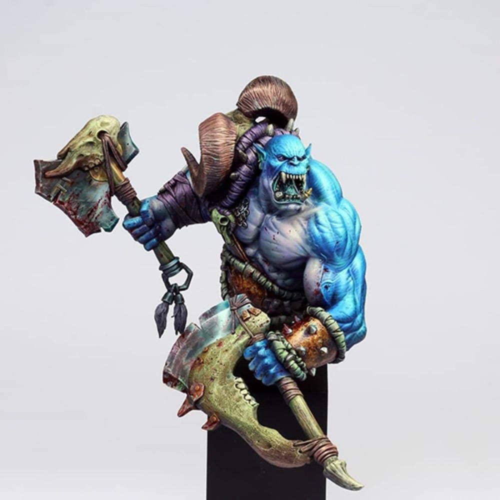 XINGCHANG ご予約品 人気の定番 1 10 Ancient Man Warrior Orc Resin Figu Base Bust No