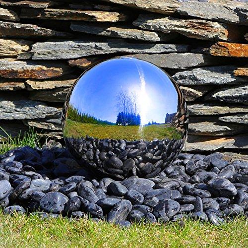 Kugel aus poliertem Edelstahl für Gartenbrunnen Edelstahlkugel 30cm Durchmesser Springbrunnen Wasserspiel Zierbrunnen Brunnen Garten