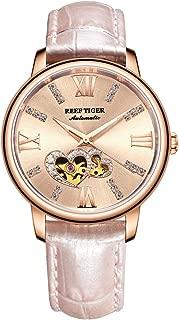Luxury Brand Ladies Watch Waterproof Leather Band Automatic Women Diamond Watches RGA1580