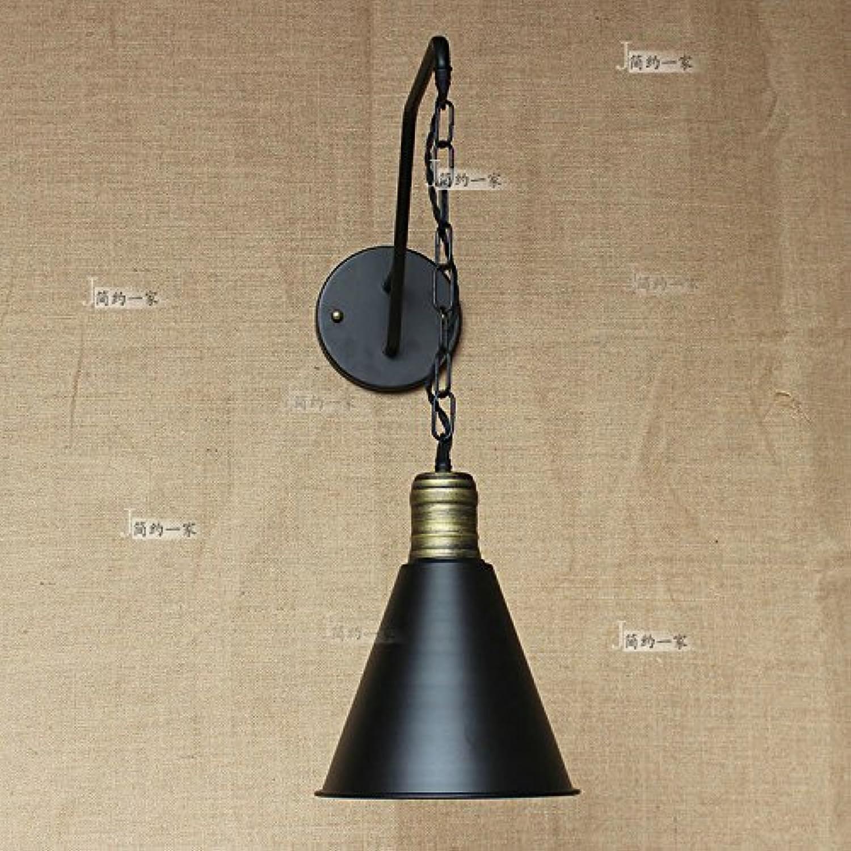 Modeen Zeitgenssische traditionelle Eisen Kette Verstellbare lange Pole Transfer Wand Lampe Wohnzimmer Esstisch Bar Küche Barn Warehouse Long Tube Wandleuchte