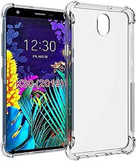 LG Arena 2 Case,LG Tribute Royal case,LG Escape Plus Case,LG K30 2019 Case,LG Journey LTE case,PUSHIMEI Soft TPU Transparent Slim Protective Phone Case Cover for LG K30 2019(Clear Anti-Shock TPU)
