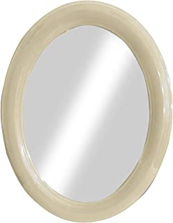 Baal Wall Mirror for Bathroom Wall Hanging Mirror For Bedroom Bathroom Mirror Pack of 1 (Oval M5)