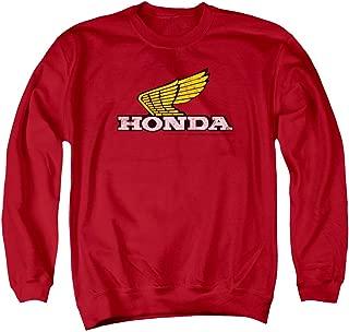 Honda Yellow Wing Logo Unisex Adult Crewneck Sweatshirt for Men and Women