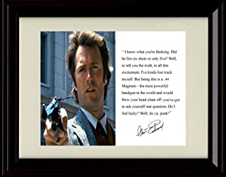 Framed Clint Eastwood Autograph Replica Print - Dirty Harry Quote
