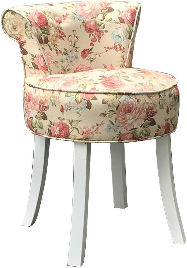 zyifan Max 89% OFF Vanity Omaha Mall Benches Chair Fan Wood Nordi Legs with Back