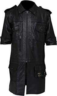 Prime-Fashion Final Fantasy XV Noctis Lucis Caelum Long Leather Coat Jacket